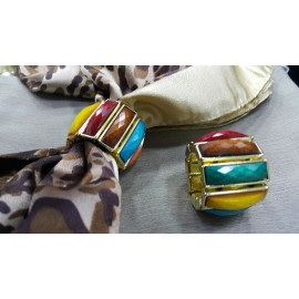 Broche multi-color